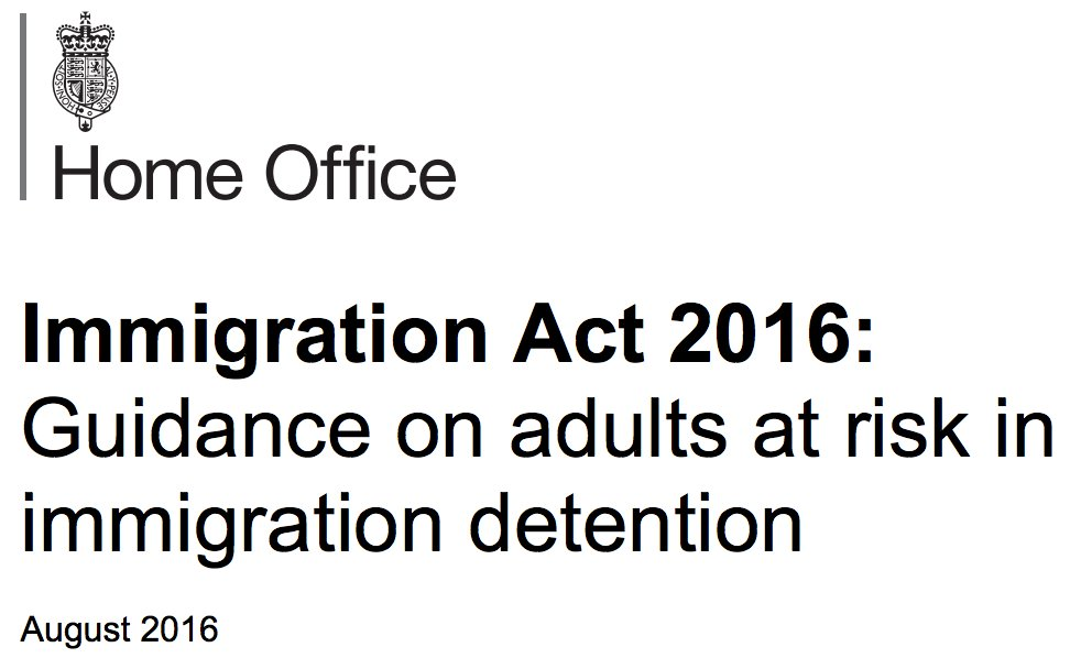 Adults at risk in immigration detention